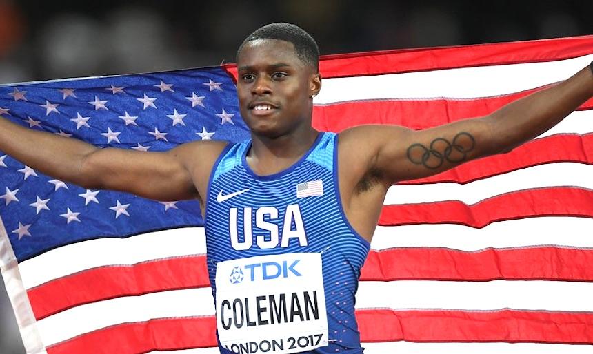 Christian Coleman breaks 60-metre indoor world record