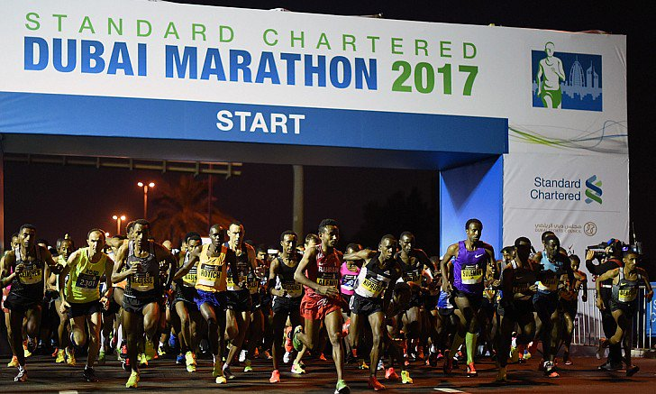 Seven records tumble at Dubai marathon