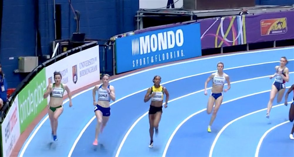 Every runner in 400m indoor heat disqualified