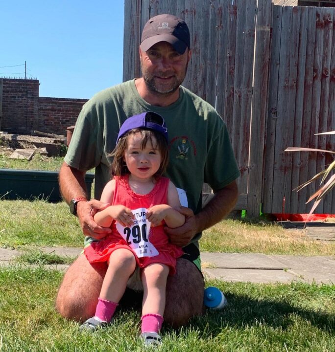 Richard Langley with his daughter Ayla, who both took part in the community event.
